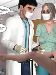 Busty blonde sleeping and sees a weird dream - Cartoon Sex - Picture 6