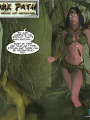 Sexy 3d elf babe was captured and banged by - Cartoon Sex - Picture 1