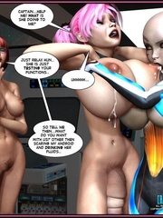 One pretty big boobed shemale and two hot - Cartoon Sex - Picture 7