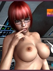 One pretty big boobed shemale and two hot - Cartoon Sex - Picture 12