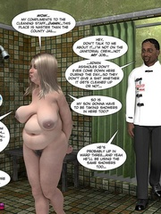 Plump blonde captured in the isolated room by - Cartoon Sex - Picture 1