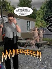 Strange weird monsters sharing petite slim - Cartoon Sex - Picture 5