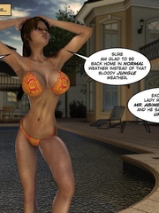 Super hot 3d brunette babe walking in tiny - Cartoon Sex - Picture 11
