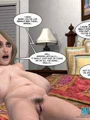 Two nasty brunette 3d girls can't stand their - Cartoon Sex - Picture 9