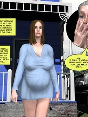 Horny busty 3d wife geetin naked on the beach - Cartoon Sex - Picture 1