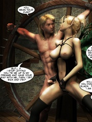 Lusty 3d redhead vampire girl seduced a king - Cartoon Sex - Picture 1