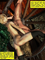 Lusty 3d redhead vampire girl seduced a king - Cartoon Sex - Picture 2