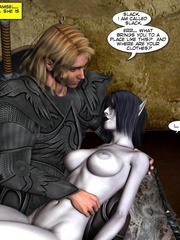Demonic busty 3d babe gets her wet pussy - Cartoon Sex - Picture 1