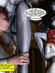 Demonic busty 3d babe gets her wet pussy - Cartoon Sex - Picture 9