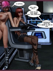 Pink haired busty 3d shemale licking her - Cartoon Sex - Picture 4