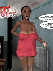 Black 3d guy caught drilling white pregnant - Cartoon Sex - Picture 1
