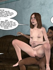 Black 3d guy caught drilling white pregnant - Cartoon Sex - Picture 2