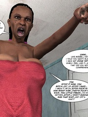 Black 3d guy caught drilling white pregnant - Cartoon Sex - Picture 4
