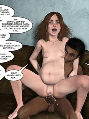 Black 3d guy caught drilling white pregnant - Cartoon Sex - Picture 6