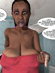 Black 3d guy caught drilling white pregnant - Cartoon Sex - Picture 7
