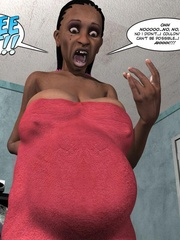 Black 3d guy caught drilling white pregnant - Cartoon Sex - Picture 9