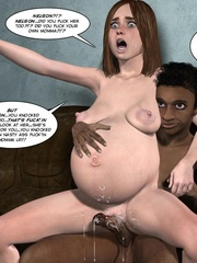 Black 3d guy caught drilling white pregnant - Cartoon Sex - Picture 10