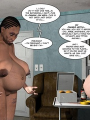 Black 3d guy caught drilling white pregnant - Cartoon Sex - Picture 12