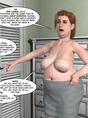 Busty blonde 3d girl revelaing her naked body - Cartoon Sex - Picture 12