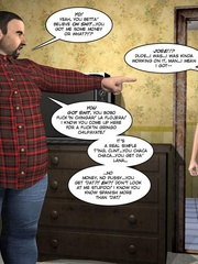 Big fat 3d guy takes the piss on skinny - Cartoon Sex - Picture 3