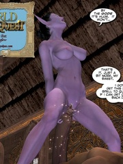 Purple perfect body 3d elf babe rides an - Cartoon Sex - Picture 1
