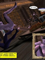 Purple perfect body 3d elf babe rides an - Cartoon Sex - Picture 3