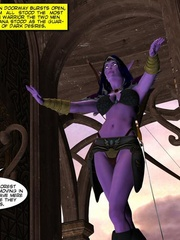 Purple perfect body 3d elf babe rides an - Cartoon Sex - Picture 4
