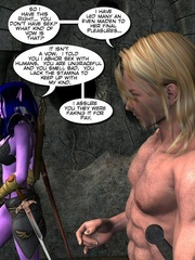 Purple perfect body 3d elf babe rides an - Cartoon Sex - Picture 10