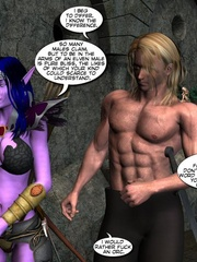 Purple perfect body 3d elf babe rides an - Cartoon Sex - Picture 11