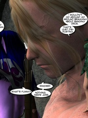 Purple perfect body 3d elf babe rides an - Cartoon Sex - Picture 12