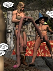 Purple perfect body 3d elf babe rides an - Cartoon Sex - Picture 16