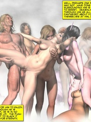 Awesome nasty 3d group sex action of humans - Cartoon Sex - Picture 2