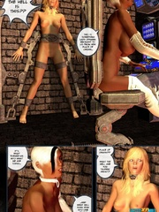 Super sexy 3d blonde chick kept chained to - Cartoon Sex - Picture 8
