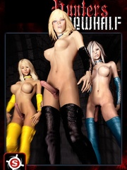 Three 3d ladyboys playing threesome sex games - Cartoon Sex - Picture 1