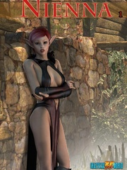 Nasty human 3d babe meets naked elf ladyboy - Cartoon Sex - Picture 1