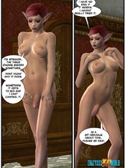Pinky hair 3d elf shemale ass banging redhead - Cartoon Sex - Picture 8