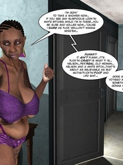 Horny brunette 3d babe rides hard black meat - Cartoon Sex - Picture 7