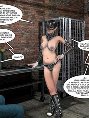 Lusty 3d mistress in leathe outfit humuliates - Cartoon Sex - Picture 5
