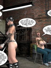 Lusty 3d mistress in leathe outfit humuliates - Cartoon Sex - Picture 9