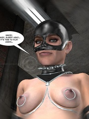 Lusty 3d mistress in leathe outfit humuliates - Cartoon Sex - Picture 10