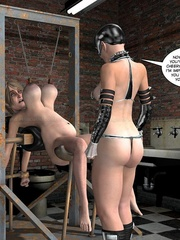 Lusty 3d mistress in leathe outfit humuliates - Cartoon Sex - Picture 11