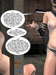 Lusty 3d mistress in leathe outfit humuliates - Cartoon Sex - Picture 12