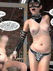 Lusty 3d mistress in leathe outfit humuliates - Cartoon Sex - Picture 13