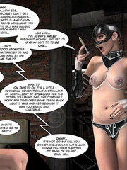 Lusty 3d mistress in leathe outfit humuliates - Cartoon Sex - Picture 14