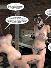 Lusty 3d mistress in leathe outfit humuliates - Cartoon Sex - Picture 15