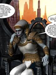 Strange three tittied 3d alien girl fucked - Cartoon Sex - Picture 1