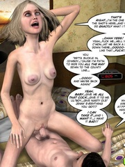 Skinny 3d blondie gets a proper fuck with her - Cartoon Sex - Picture 5