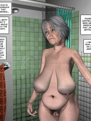Lusty nude 3d dude caught jerking off in - Cartoon Sex - Picture 12