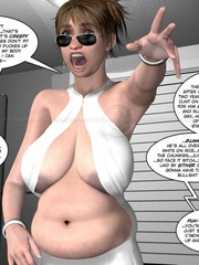 3d fatty rides her boyfriend's rockhard dick - Cartoon Sex - Picture 8