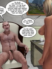 Cute blonde 3d babe sucking and fucking - Cartoon Sex - Picture 6